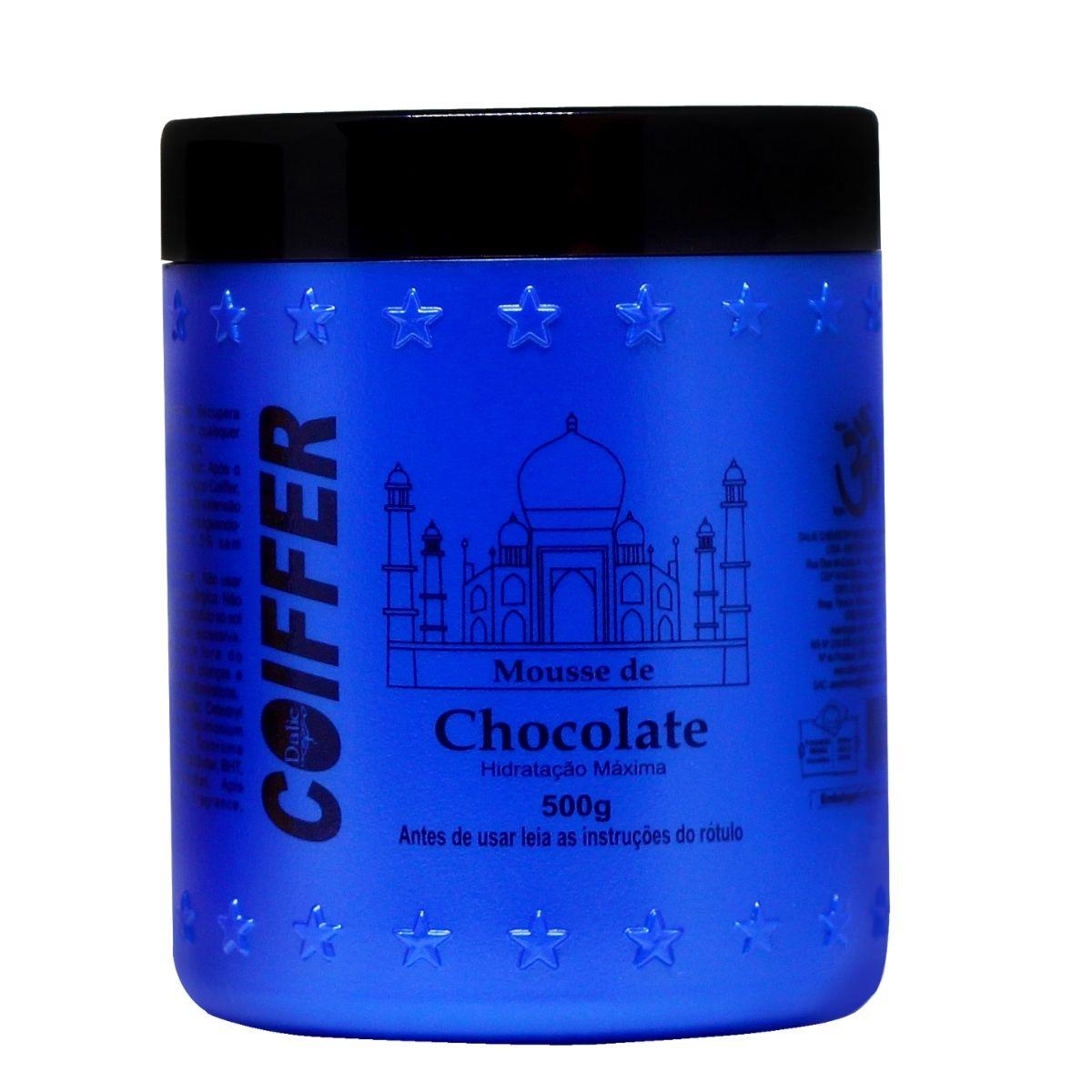 Mascara Capilar Mousse de Chocolate Coiffer 500g