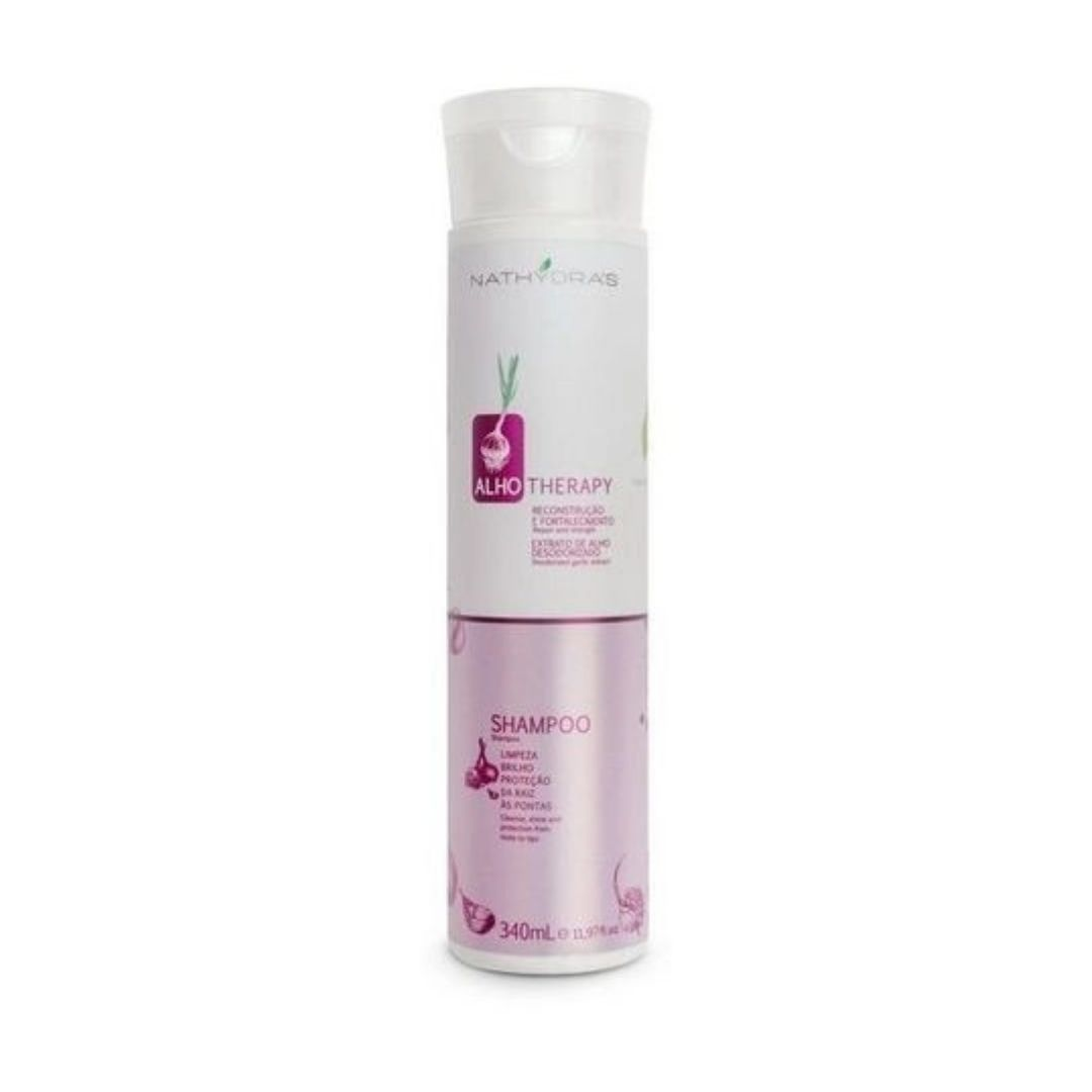 Shampoo de Alho  Nathydras para Todos os Tipos de Cabelo 340ml