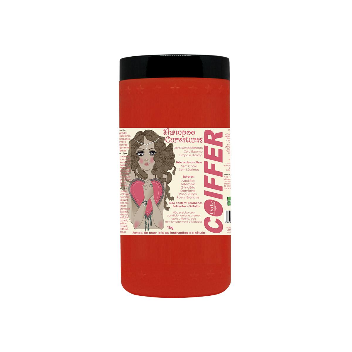 Shampoo para Cabelos Cacheados Curvatura  Coiffer 1kg