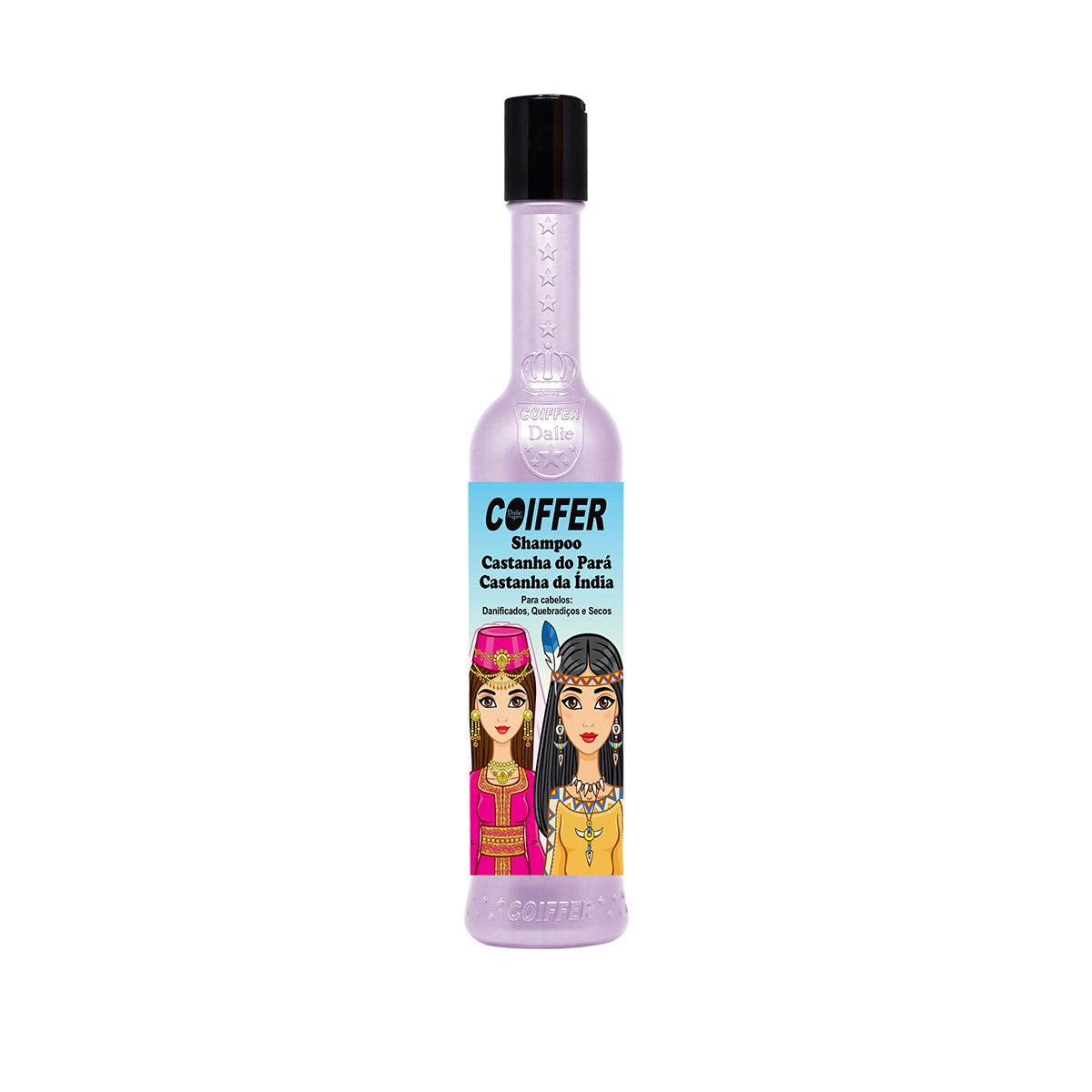 Shampoo para Cabelos  Castanho do Pará e Castanha da Índia Coiffer 300ml