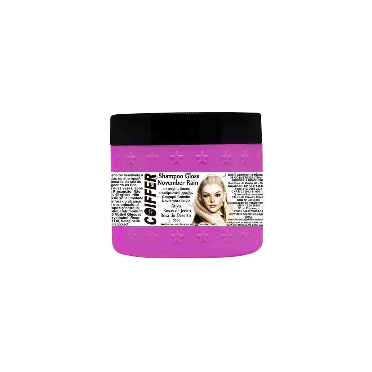Shampoo para Cabelos  Gloss November Rain Coiffer 350g