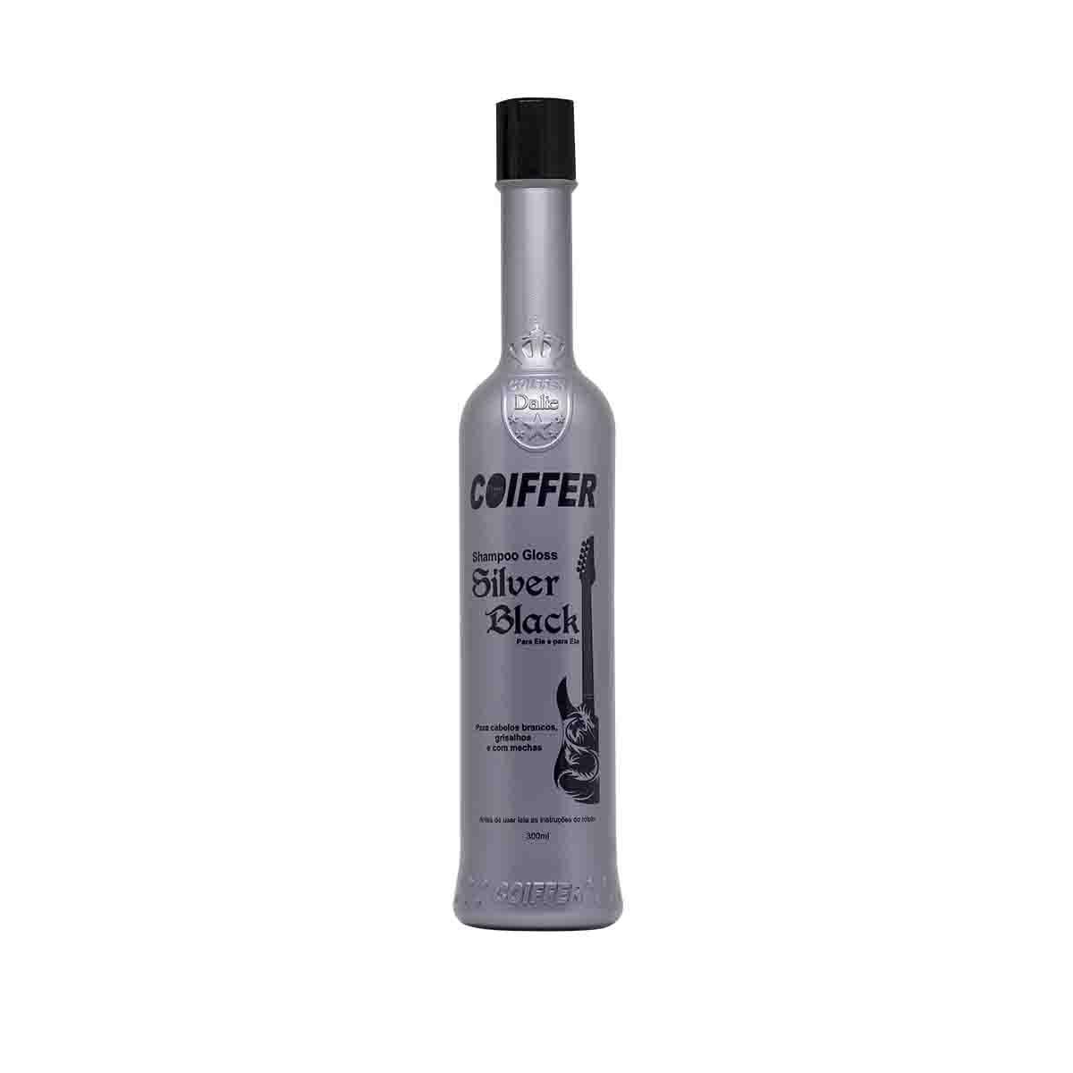 Shampoo para Cabelos Gloss Silver Black Coiffer 300ml
