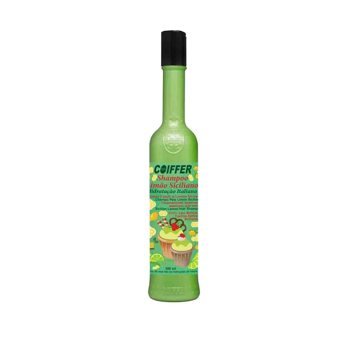 Shampoo para Cabelos  Limão Siciliano Coiffer 300ml