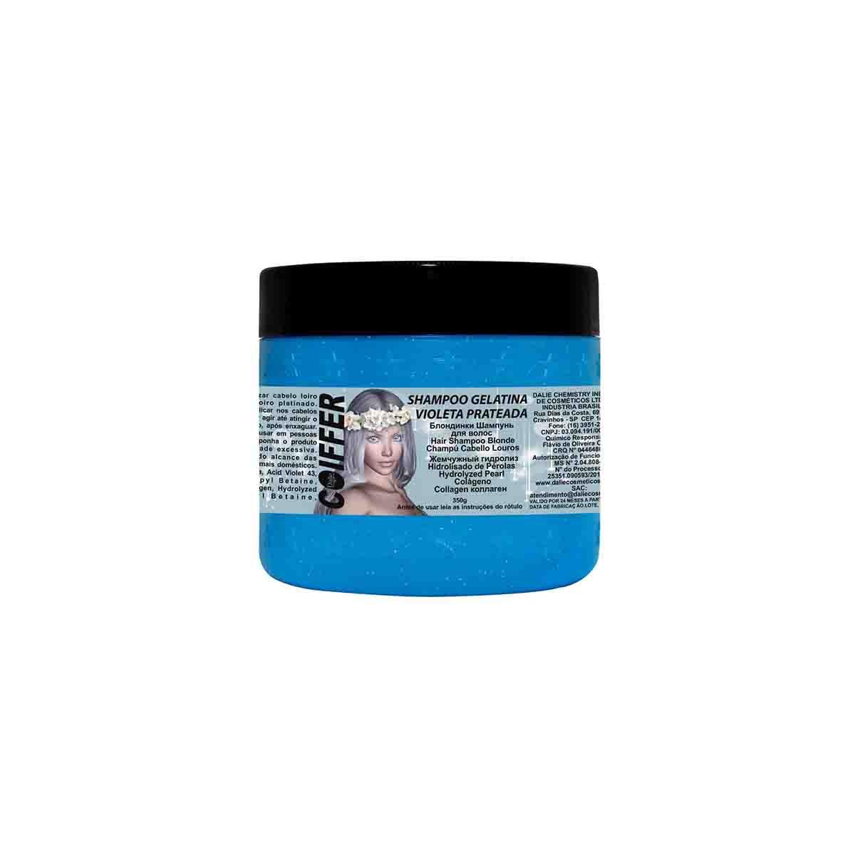 Shampoo para Cabelos Matizador  Gelatina Violeta Prateado Coiffer 350g