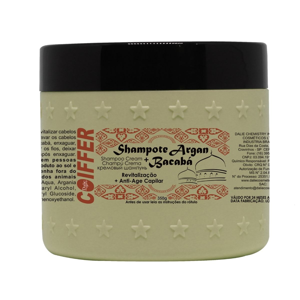 Shampoo Shampote argan +bacabá Coiffer 350g