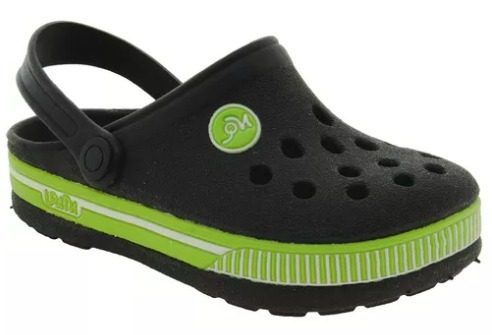 f271732c675 Babuche Infantil Menino Preto Verde Conforto Nilqi - Clique+ Calçados