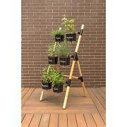 Escada Eleve Raiz Para Vaso e Jardineira Autoirrigável Decoração Jardim Vertical