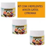 Repelente Afasta Espanta Gato Citromax 300g Kit com 3