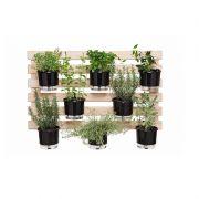 Treliça de Madeira 60cm x 100cm para Jardim Vertical Vaso Autoirrigável