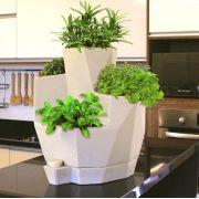 Vaso Autoirrigável Decorativo em Polietileno Jardim de Temperos - Japi
