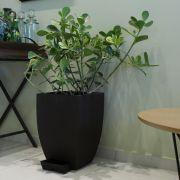 Vaso Para Decoração em Polietileno Quadrado Moderno Duo Japi