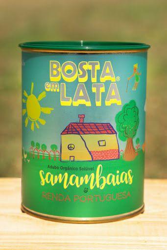 Fertilizante Adubo Orgânico Bosta em Lata Samambaias e Renda Portuguesa