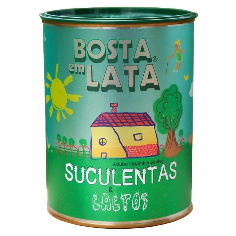 Fertilizante Adubo Orgânico Bosta em Lata Suculentas e Cactos 400g.