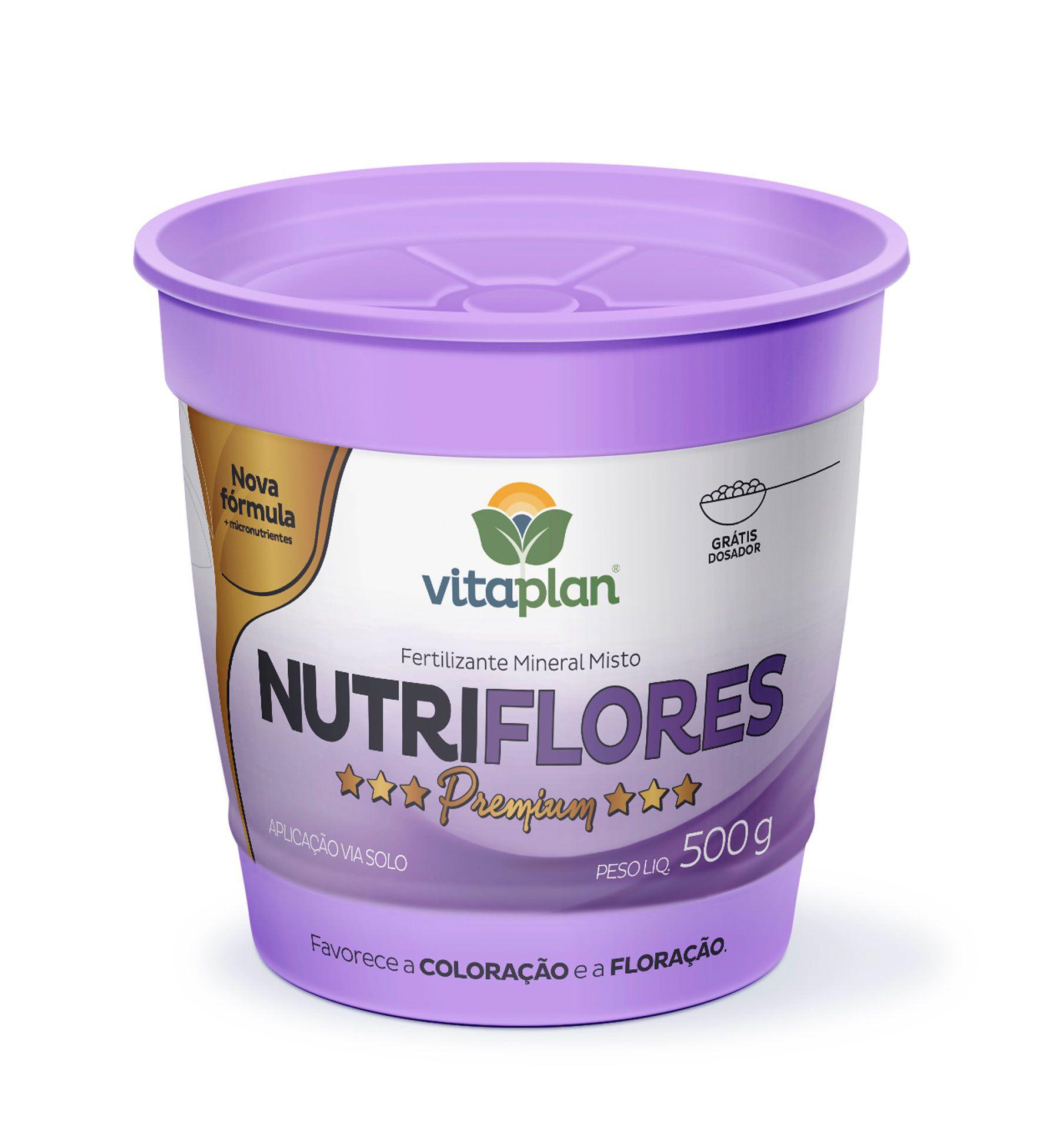 Fertilizante Mineral Misto Nutriflores 500g - Vitaplan