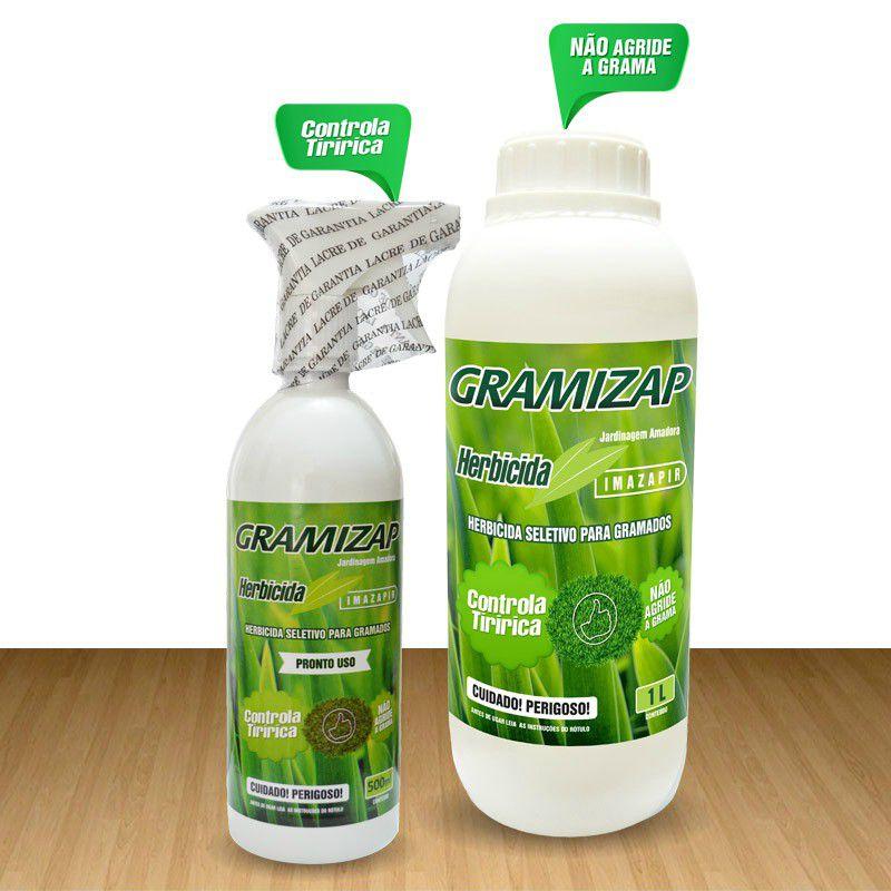 Herbicida Gramizap Mata Tiririca 500ml Citromax Imazapir Jardinagem Amadora