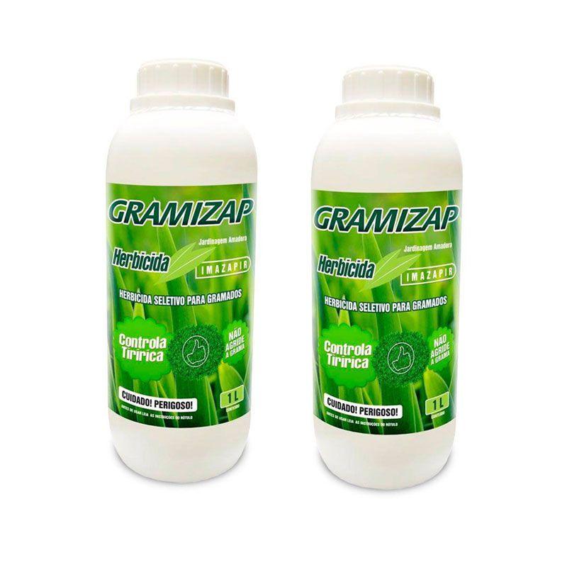 Kit 2 Herbicida Gramizap Imazapir Mata Tiririca 1L