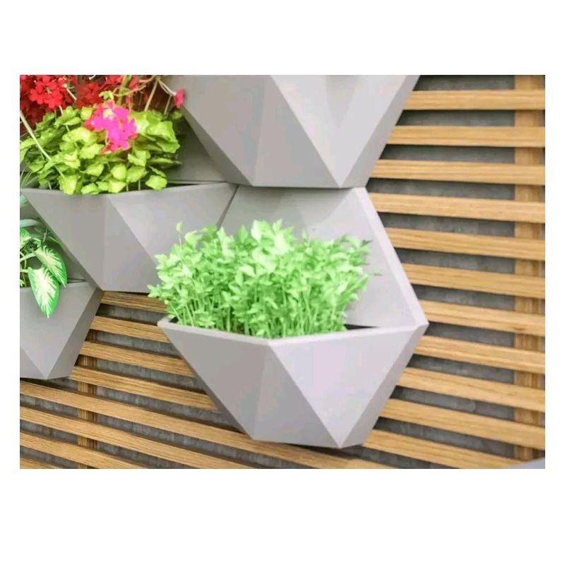 Kit 4 Vasos de Parede Favo Japi Decoração Jardim Vertical