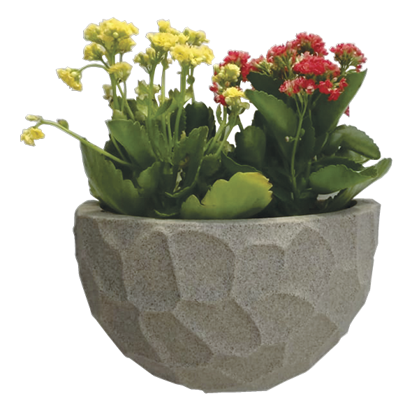Kit 4 Vasos de Parede Prisma em Polietileno Japi - Decoração Casa e Jardim Vertical