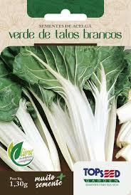 Semente de Acelga Verde de Talos Brancos 1,30g