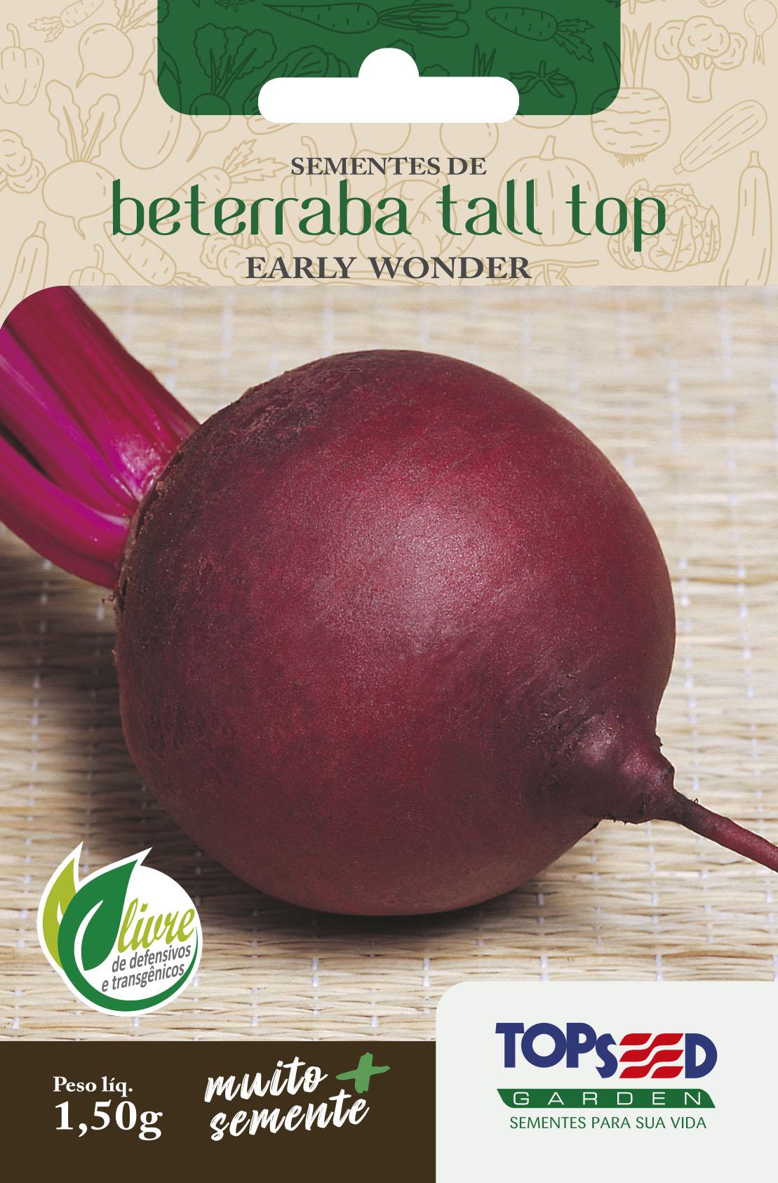Semente de Beterraba Early Wonder Tall Top 1,50g