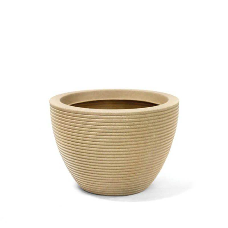 Vaso em Polietileno Riscatto Oval Baixo 22cm - Nutriplan
