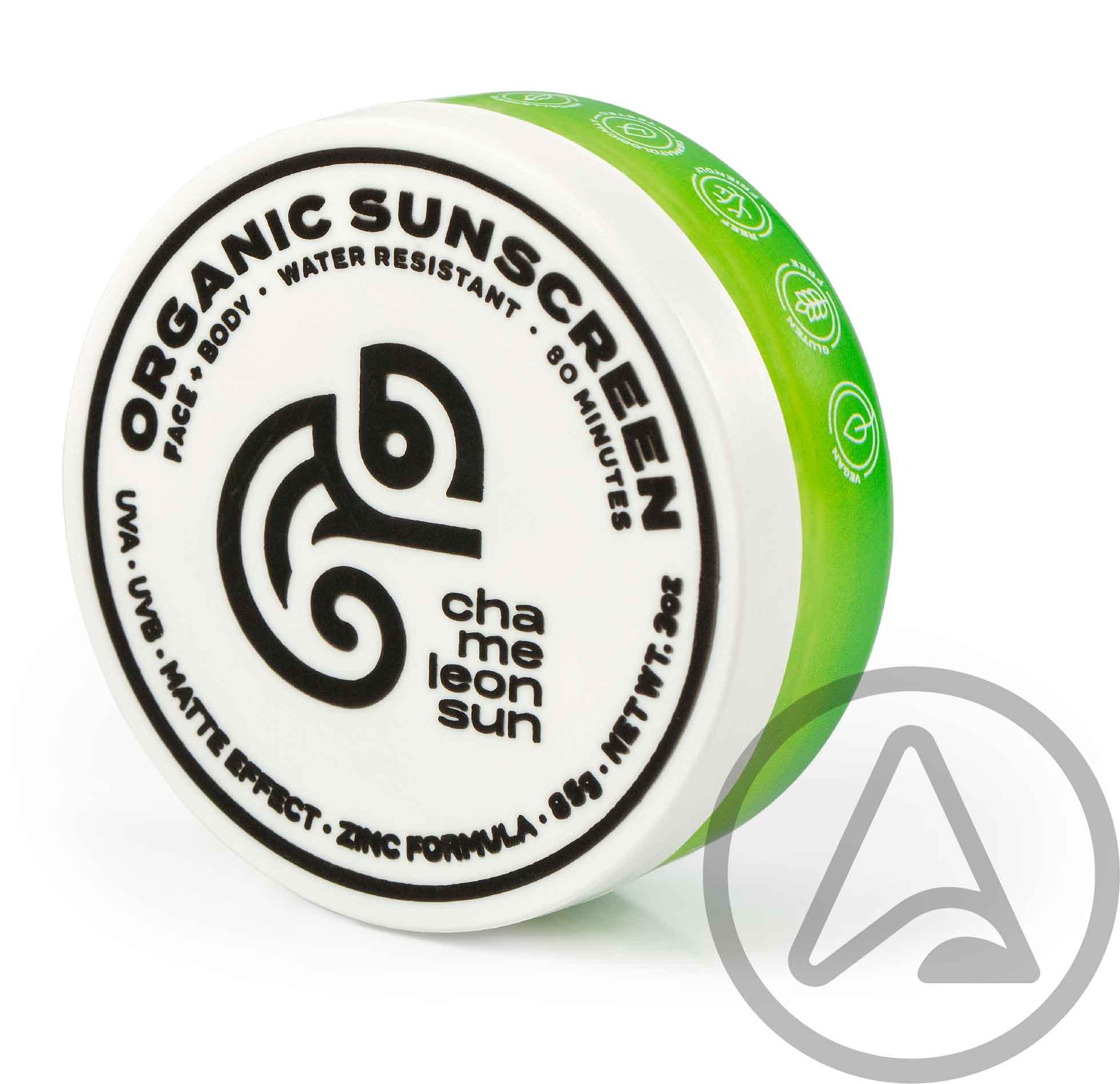 Filtro Solar Orgânico - Chameleon Sun - CAMMY SPF 50+  (Pote + Refil)
