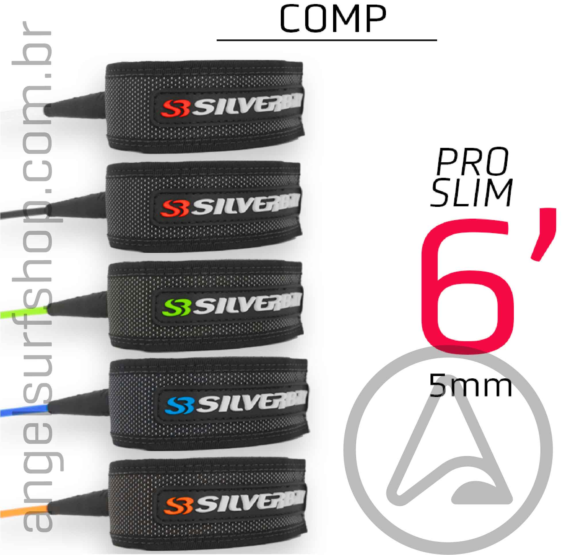 Leash SILVERBAY PRO SLIM COMP 6x5mm