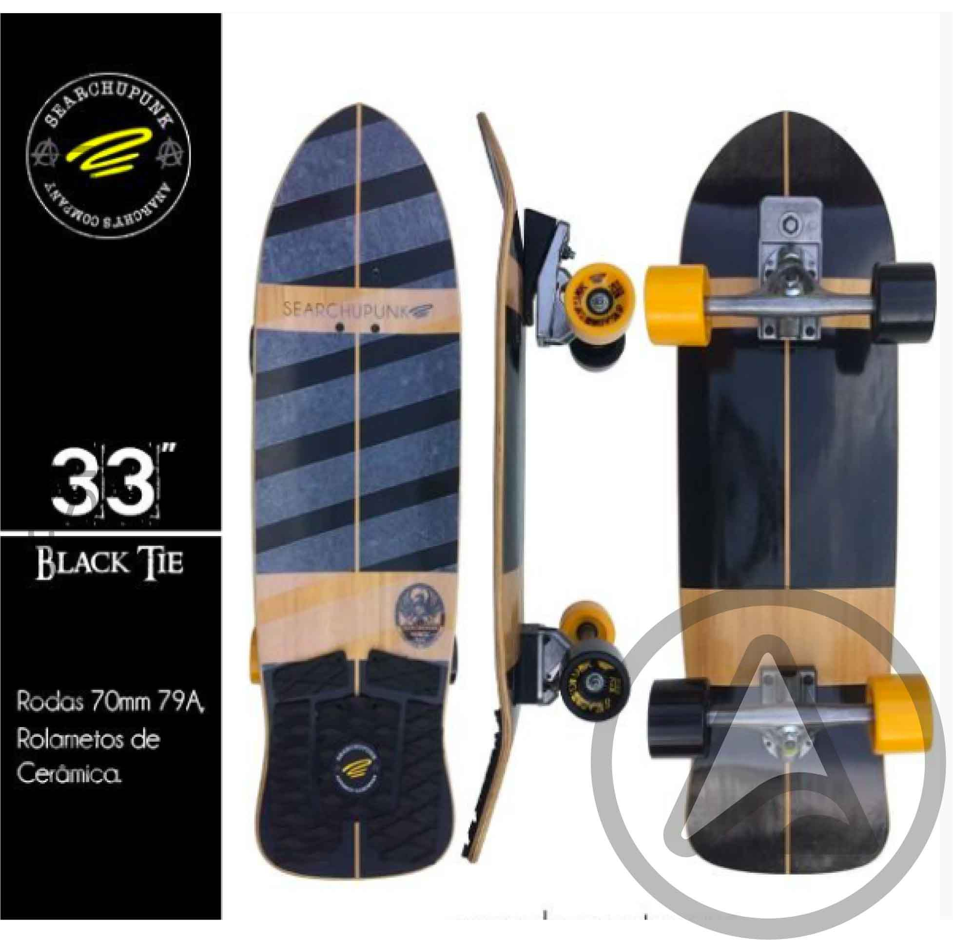 dbbedf166 Skate Simulador de Surf Black Tie 33   - Angel Surf Shop