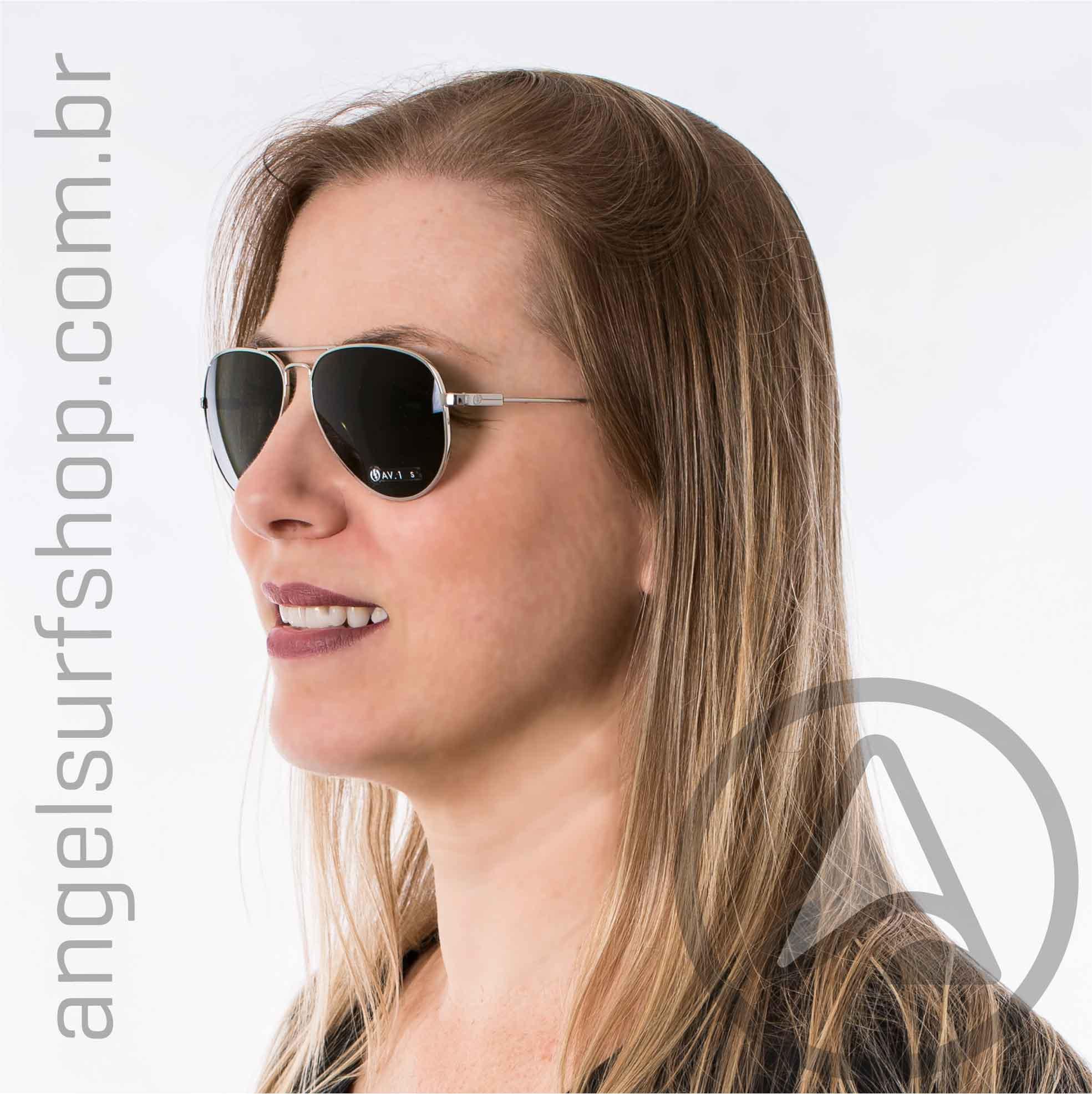 Sunglass Electric AV1 Small Platinum M Grey (UNISSEX)