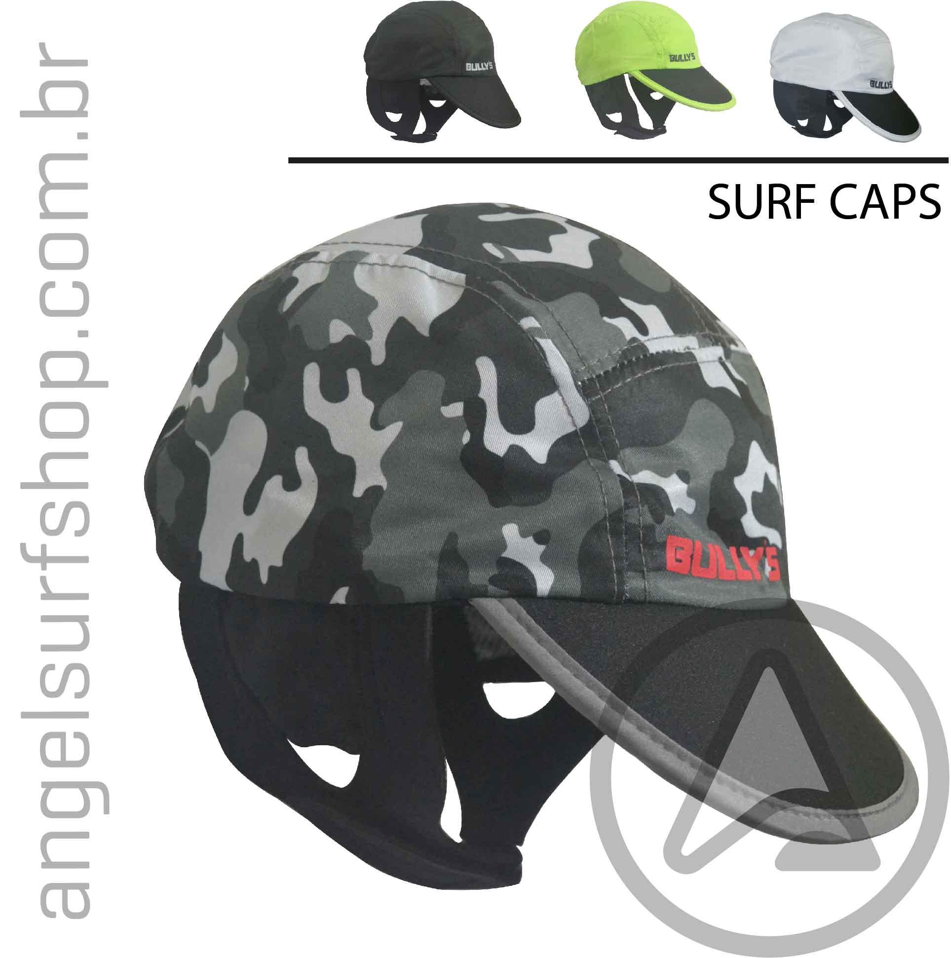 Surf CAPS BULLY´S - Boné de Surf Proteção UV50+ - Várias Cores