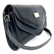 ca9c0c1e9 Bolsa feminina preta tiracolo de couro pequena com alça transversal HB680 |  HAMISH