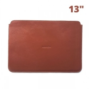 """Capa para MacBook Air e Pro 13"""" em Couro Cor Linhaça HAMISH"""
