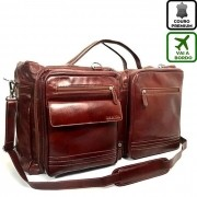 Bolsa de Viagem Pequena de Couro Cor Whisky HP035 | HAMISH