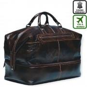 Bolsa De Viagem De Mão em Couro Cor Marrom HP057 | HAMISH