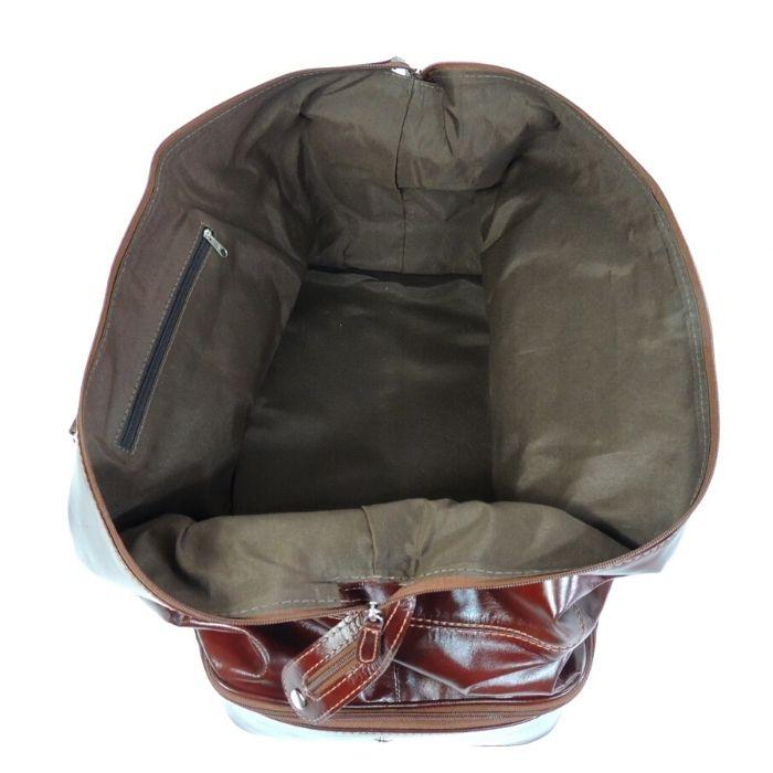 Bolsa De Viagem De Mão em Couro Cor Whisky HP057 | HAMISH