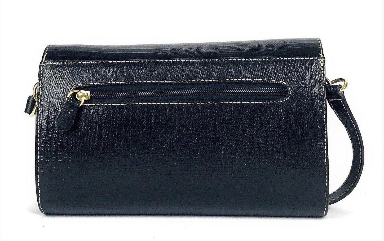 b3f096486d9da Bolsa feminina preta tiracolo de couro pequena com alça transversal HB680 |  HAMISH