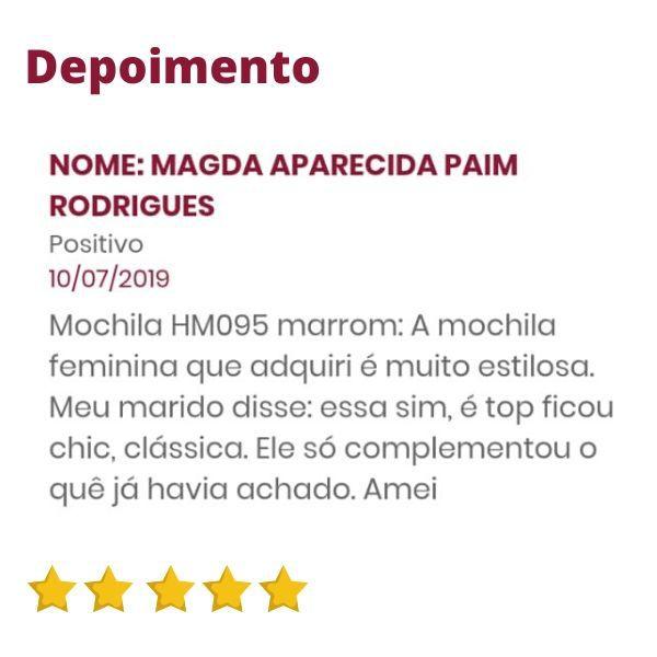 Bolsa Mochila Feminina de Couro Marrom Bambu HM095   HAMISH