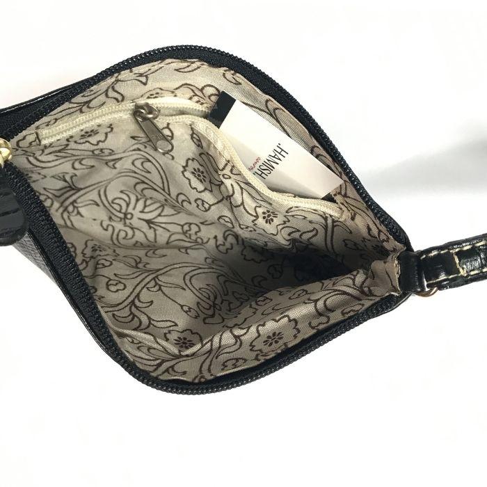 Bolsa Porta Celular de Couro Preta HC012 | HAMISH