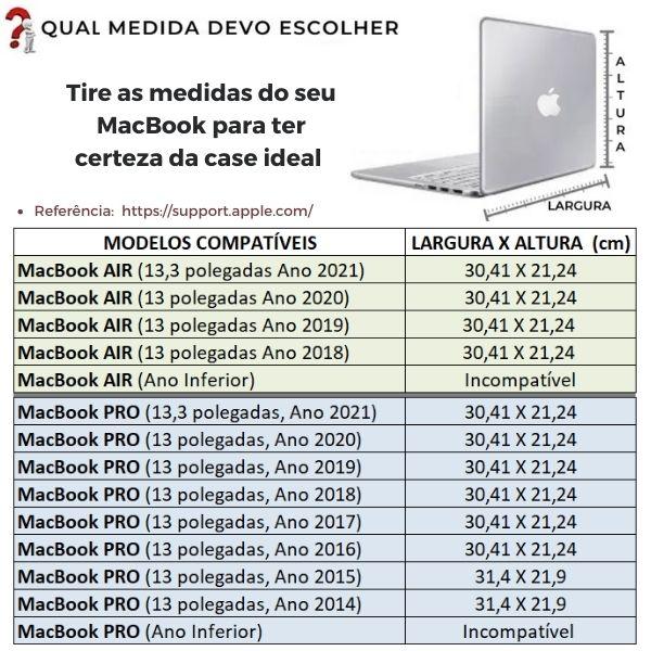 """Capa para MacBook Air e Pro 13"""" em Couro Cor Preta   HAMISH"""