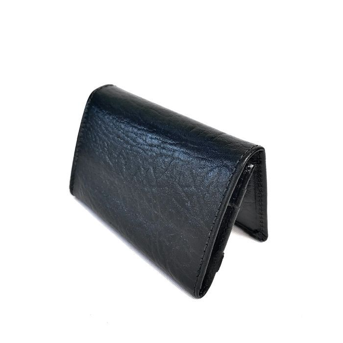Carteira Masculina Preta Pequena de Couro HC083 | HAMISH