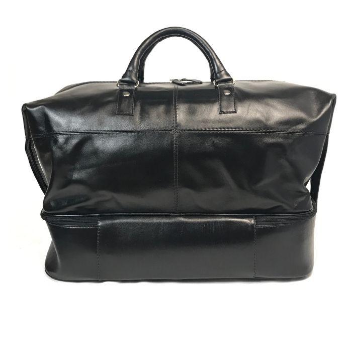 Bolsa De Viagem De Mão em Couro Cor Preta HP057 | HAMISH
