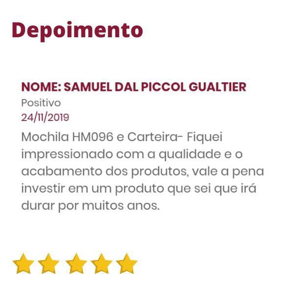 Mochila de Couro Marrom HM096 | HAMISH