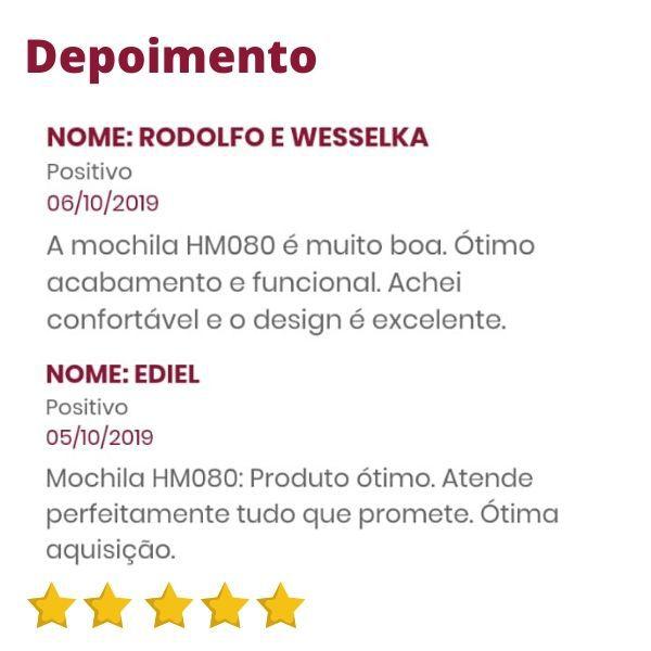Mochila de Couro Marrom para Notebook HM080 | HAMISH