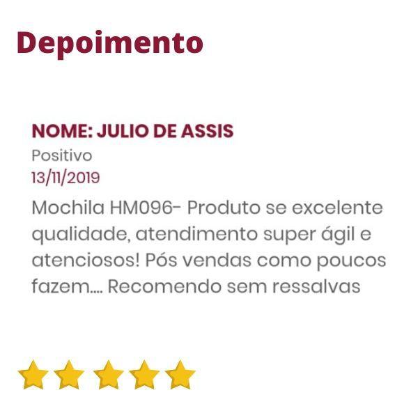 Mochila de Couro Marrom Whisky para Notebook HM096 | HAMISH