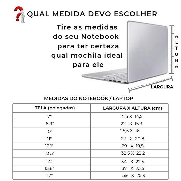 Mochila de Couro Preta para Notebook HM080 | HAMISH