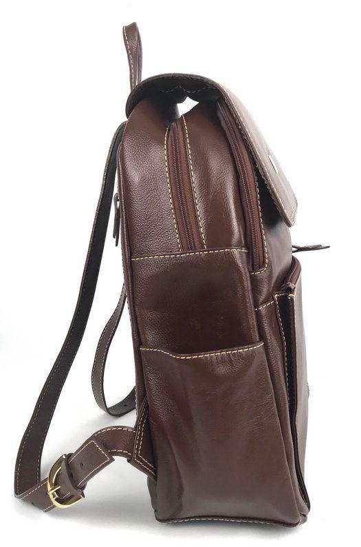 Bolsa Mochila Feminina de Couro Marrom HM095 | HAMISH
