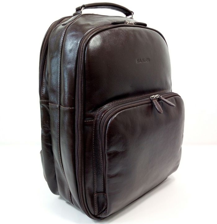 Mochila de Couro Marrom para Viagens HM099 | HAMISH