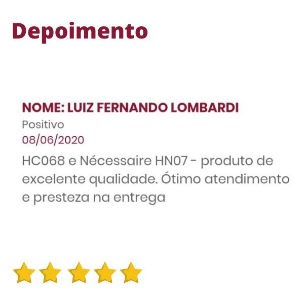 Nécessaire de Couro Preta com Divisórias HN07 | HAMISH