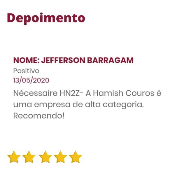 Nécessaire Feminina de Couro Marrom Bambu HN2Z | HAMISH