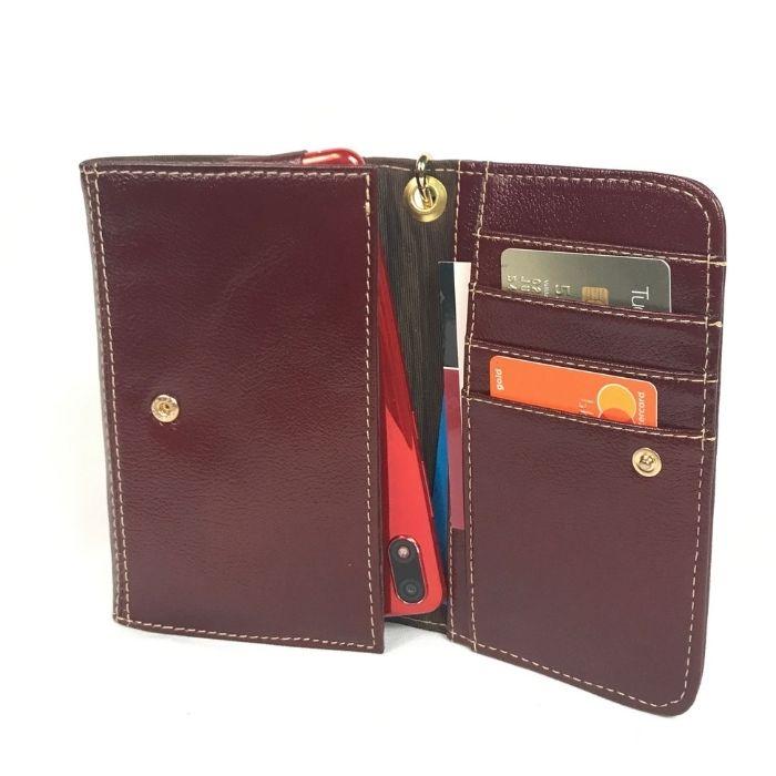 Porta Celular e Cartões de Couro Marrom Whisky HC010 | HAMISH